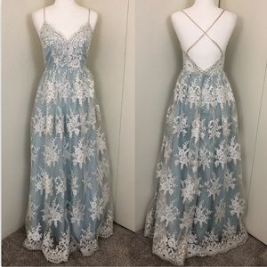 TLC Say Yes To The Prom Dress Ice Blue Fit & Flare